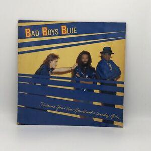 Bad Boys Blue - I Wanna Hear Your Heartbeat  Sunday Girl  - Original German LP