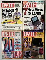 BYTE Magazine Lot (4 Issues) 1994 June, 1995 March, Sept, Oct - Vintage Computer