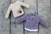 Blythe doll knitted sweater pullover winter jacket outfit accesories clothes