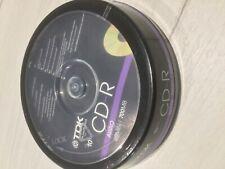 More details for tdk cd-rxg80,cd-r audio 80 min/700mb 10 pack still sealed
