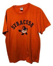 Syracuse Orange Mascot Logo T-Shirt Mens Size Large Orange NCAA NEW