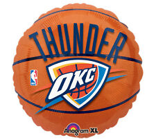 "NBA Oklahoma City Thunder 18"" Foil Balloon Basketball OKC Helium Party 3 Pack"