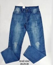 MENS TATTERED JEANS (BLUE)  SIZE 28