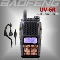 Baofeng UV-6R Walkie Talkie VHF UHF PMR 2-Way FM Radio High Power 7W MAX 15 KM