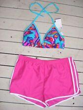 NEW HALTER BIKINI TOP w Pink Boardshorts Size 14 RRP $54.99