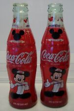 COCA COLA 8 OZ BOTTLES - 75 INSPEARATIONS - MICKEY MOUSE - LOT OF 2