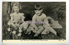 r2713 - Princess Anne & Brother Charles sat under a Tree - postcard - Tuck's