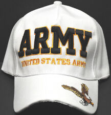 U.S. ARMY VETERAN Cap/Hat w/ Eagle 3D Embroidery White *FREE SHIPPING*