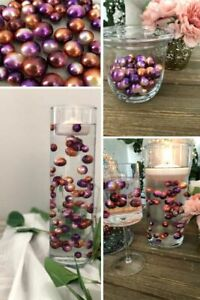 Ombre Floating Pearls Purple Bronze DIY floating pearl decor 60pc no hole