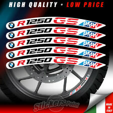 kit 5 Adesivi R 1250 GS BMW cerchi ruote moto stickers Motorrad Flags R1250 GS