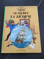 TINTIN LE SECRET DE LA LICORNE   CASTERMAN  EDITION SANS CODE BARRES