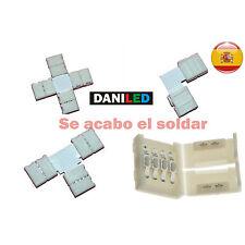 Conectores para tiras LED RGB en L , T, CRUCE, empalme 10mm smd 5050