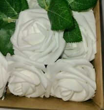New! Ling's Moments. Roses artificial flowers 25 pcs. WHITE