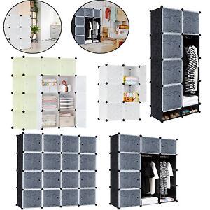 Regalsystem Garderobe Kleiderschrank Schrank DIY Steckregal Schuhschrank Türen*
