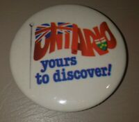 """Visit Ontario Canada Yours To Discover Tourism Pinback Button Pin 2-1/4"""""""