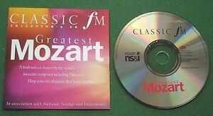 Classic FM Greatest Mozart inc Flute & Harp Concerto + CD