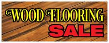Wood Flooring Sale Banner Floor Home Office Dark Light Retail Store Sign 36x96