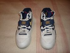 Nike Basketball Air Force 180 Basketball Shoes, Size 10.5 (2005)--White/Obsidian