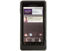 Rubber Coated Case Black For Motorola Droid 2
