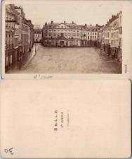 France, Nord, Saint Omer, place centrale, circa 1870 CDV vintage albumen carte d