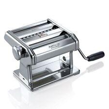 Marcato Atlas Ampia Pasta Machine Italy Chrome Plated Steel Silver Hand Crank