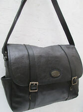 -AUTHENTIQUE grand sac besace voyage FOSSIL cuir TBEG vintage bag