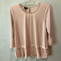 Jones New York Womens Extra Large Light Pink Layered Look Shirt Blouse Top XL