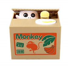 Powerking Money Coin Box, Cat Stealing Money Coin Penny Bank and Saving Coin Box