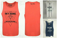 Markenlose bequem sitzende ärmellose Herren-T-Shirts aus Baumwolle