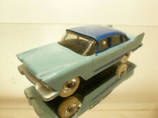 DINKY TOYS 178 PLYMOUTH PLAZA - 2 TONE BLUE 1:43 - VERY GOOD CONDITION