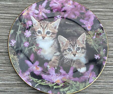 Royal Worcester Cat Plate You Go First Age Of Innocence By Jane Taylor 1995