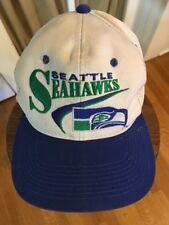 Vintage Seattle Seahawks Hat Cap Snapback Embroidered NFL