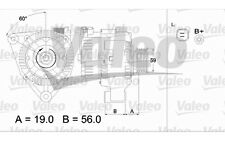 VALEO Alternador CITROEN SAXO BERLINGO PEUGEOT 106 306 PARTNER 437344