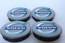 VOLVO 4pcs Plastic Wheel Centre Caps with Silicone Emblem 60mm/55mm NEW