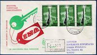 1963 - FDC Venetia - INA - Viaggiata per raccomandata - n.200It