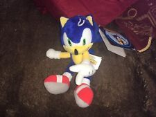 """Official Super Sonic The Hedgehog 8"""" plush soft toy Sega Tomy rare new tags"""