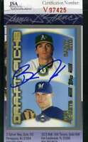 Barry Zito 2000 Topps Rookie Jsa Coa Hand Signed Authentic Autograph