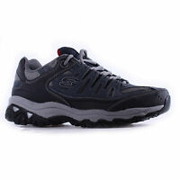Men Skechers MEMORY FIT 50125NVY Navy/Grey Lace-Up Running/Walking Sneaker Shoes