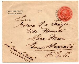 1900´s ARGENTINA CHESS CLUB DEL PLATA ADVERTISING COVER STATIONERY !!