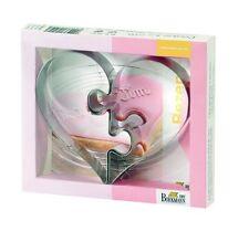 Birkmann Cookie for Two 2 Ausstechformen geteiltes Herz in Geschenkverpackung