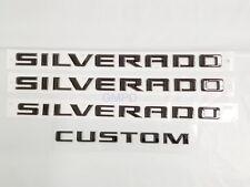 2019 Silverado Trail Boss Door & Tailgate Silverado Custom Black Emblem 84300948