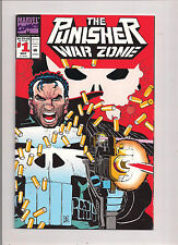 MARVEL COMICS THE PUNISHER WAR ZONE #1 MARCH 1992 DIE CUT COVER NM