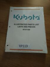 Kubota Rtv1100 Parts List Catalog Manual New