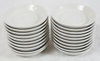 Shenango China by Interpace Restaurant Ware Off-White Saucer Lot (20) Vintage