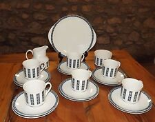 Royal Doulton Translucent China TC1023 Moonstone  21 Pieces cups saucers plates