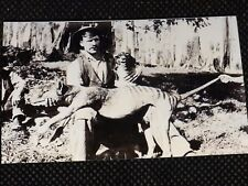Reproduction 1900's B/W  Real Photograph Tassie Tiger & West Coast Hunter