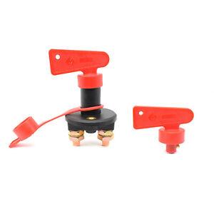 Battery Cut Off Kill Switch Master Isolator Heavy Duty 12V 24V Waterproof 2 Keys