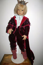 "2002 Annette Himstedt 30"" Prince Sunray #594/713  with metal doll stand no box"