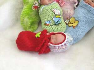 Polymer Clay hand sculpted one of a kind mini baby. With COA. Meet Olivia