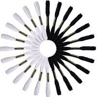 24 madejas de Hilo Para bordado Agujas cruzadas de tejer (Blanco y Negro) L5N4